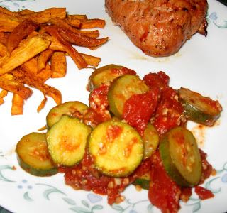 Debbi Does Dinner... Healthy & Low Calorie: Italian Zucchini with Tomatoes