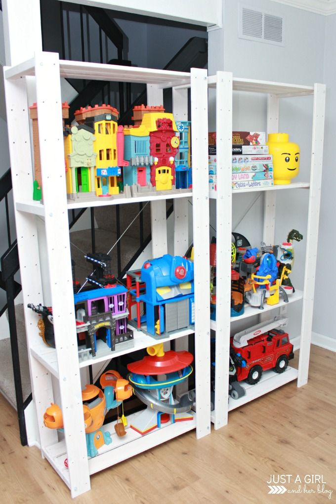 A Storage Solution For Big Toys And An Ikea Hack Toy Storage Solutions Large Toy Storage Playroom Storage