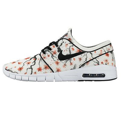 sale retailer 326f0 bfc4c Nike SB Stefan Janoski Max Prm Mens 807497-101 Sail Cherry Skate Shoes Size  4.5