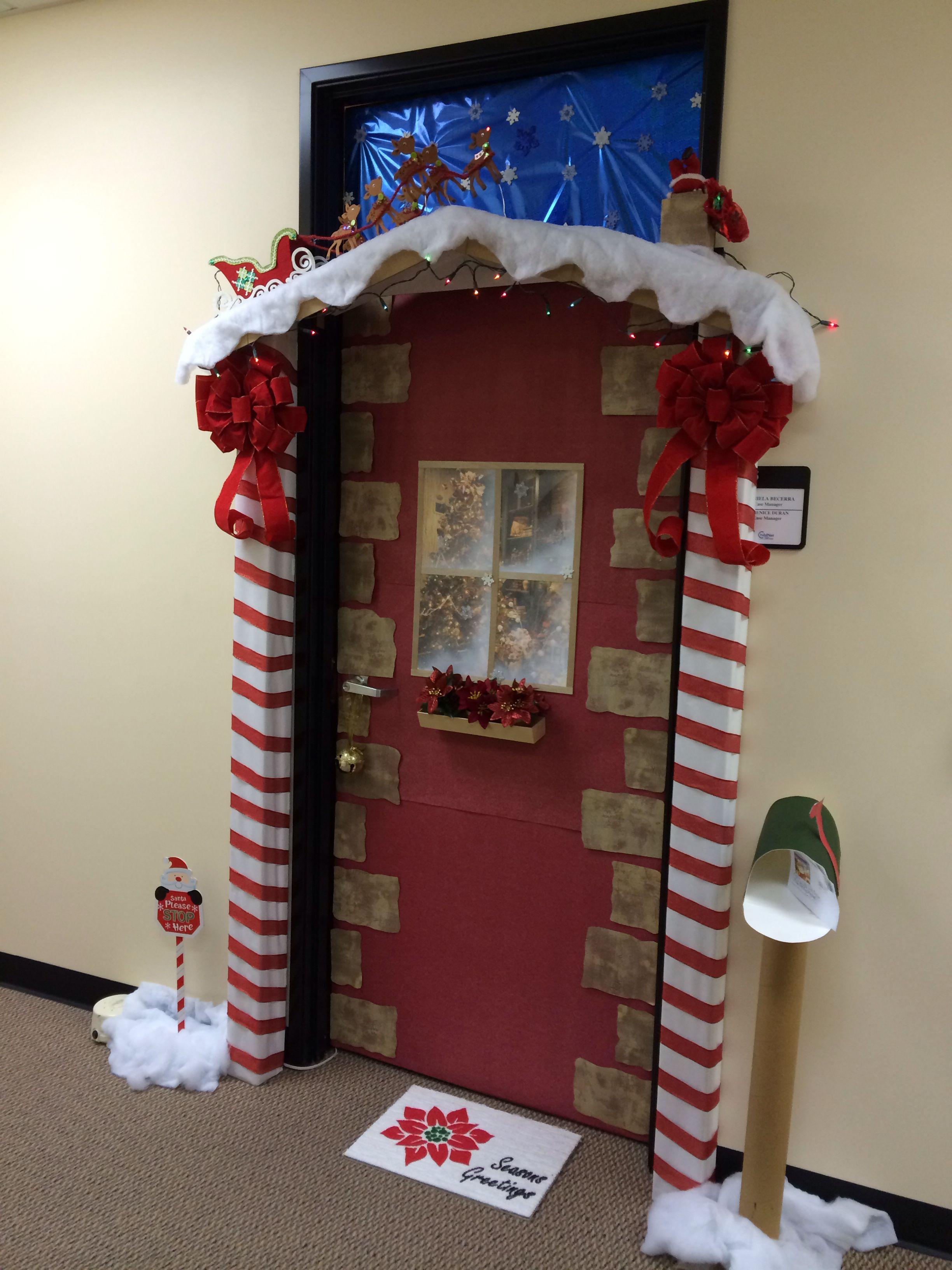 Christmas door decoration | christmas | Pinterest ...