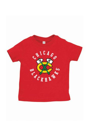 fe9faa13a Chicago Blackhawks Infant Circle Logo Short Sleeve T-Shirt Red
