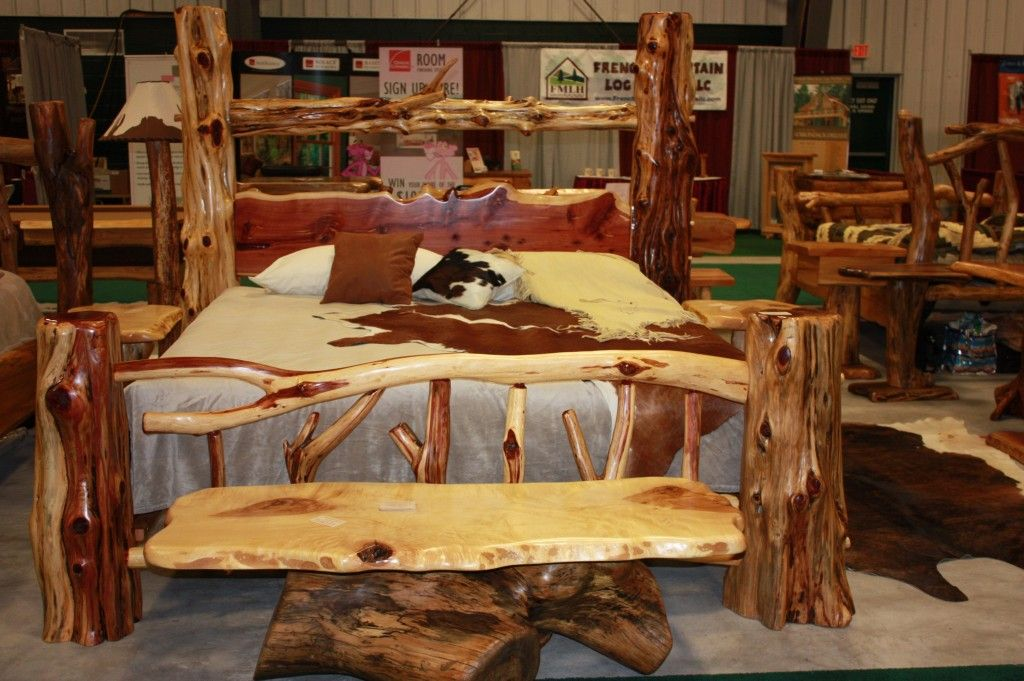 Log Furniture Bedroom Sets For Natural Ambience