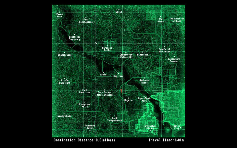 fallout 3 map - Google Search | Maps | Fallout 3, Fallout, Map