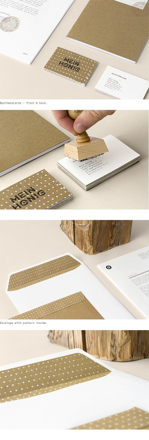 Brown Recycled business cards | design and packaging | Pinterest ...