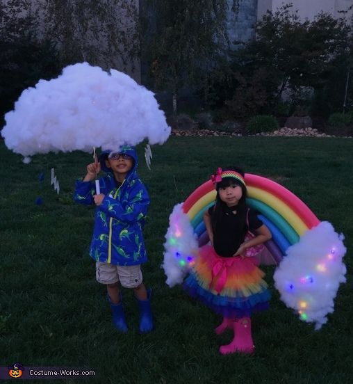 Rainbow and Storm - Halloween Costume Contest at Costume-Works.com #halloweencostumes
