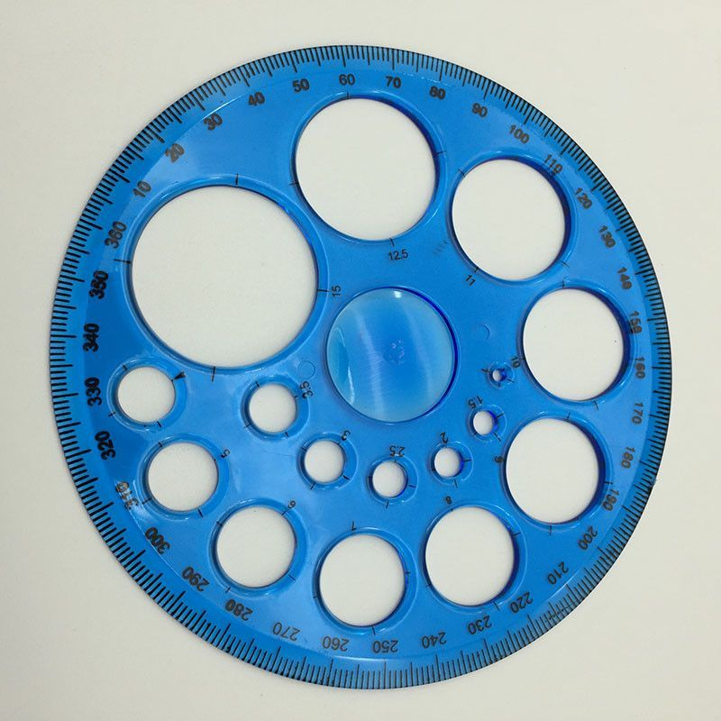 Patchwork Circular Template Ruler