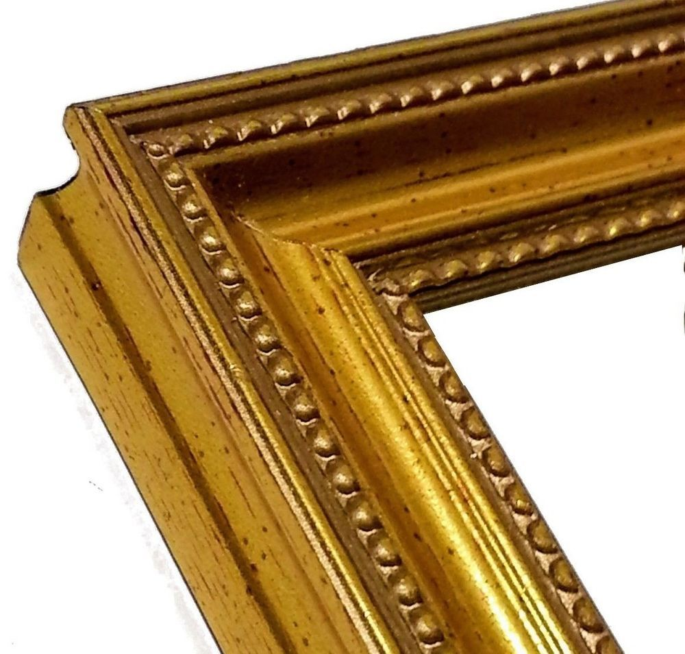Antique Gold Picture Frame Small Gold Photo Frame 3 4 In 4x6 11x14 Custom Handmadeinvermo Gold Picture Frames Gold Photo Frames Small Gold Photo Frames