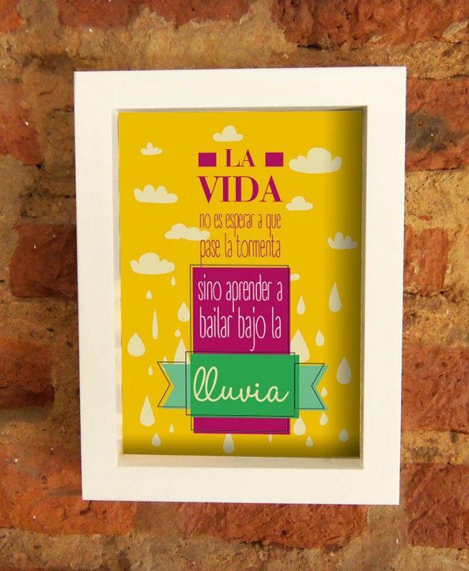 Cuadros Con Frases Medida 18x24cms Marco En Color