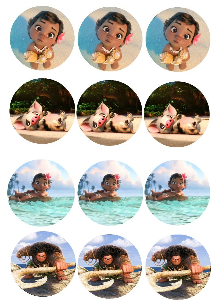 graphic regarding Moana Printable known as Absolutely free Printable Moana Cupcake Toppers Summer time Preschool Camp