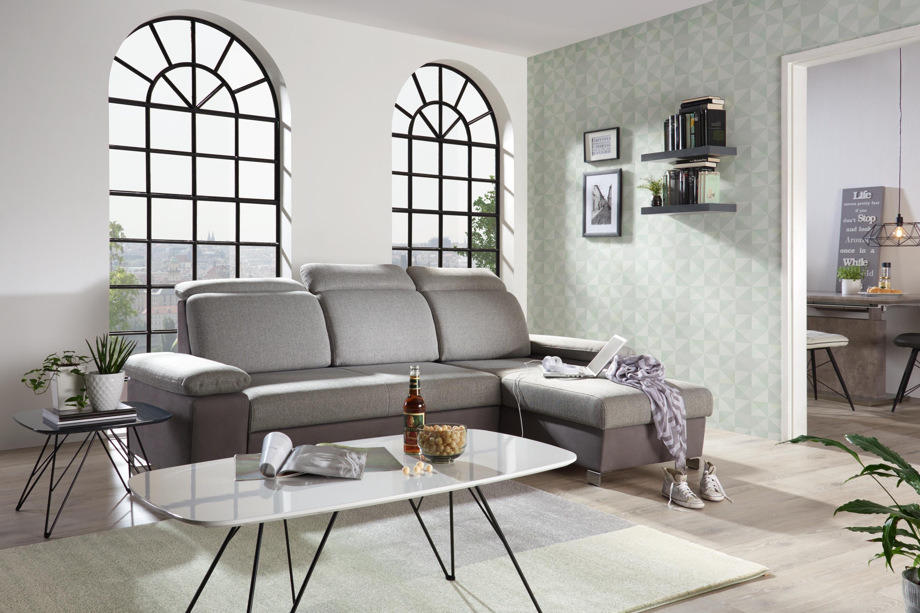 Wohnlandschaft In Grau Silber Textil Von Time Style Couch