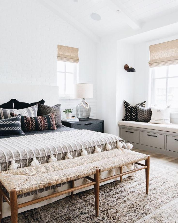 Bedroom Decorating Ideas Neutral Colors Curtains For White Bedroom Vaulted Ceiling Bedroom Design Ideas Bedroom Lighting Kids: Simple Boho Bedroom #decor