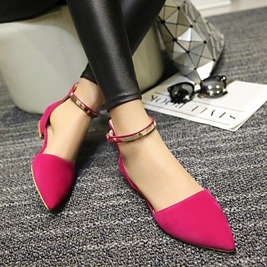 Women's Spring Summer Fall Leatherette Outdoor Dress Casual Flat Heel  Buckle Black Red Almond 4923465 2017. Pointed Toe FlatsAlmondDress ...