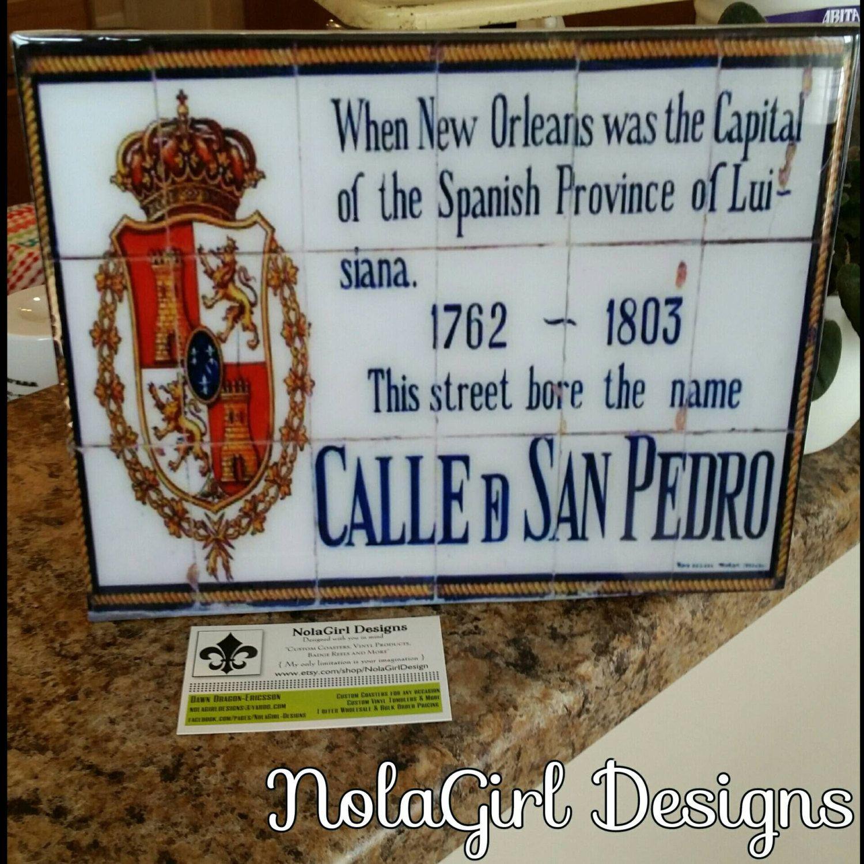 New Orleans; Louisiana, French Quarter, Spanish Tile Replicas ...