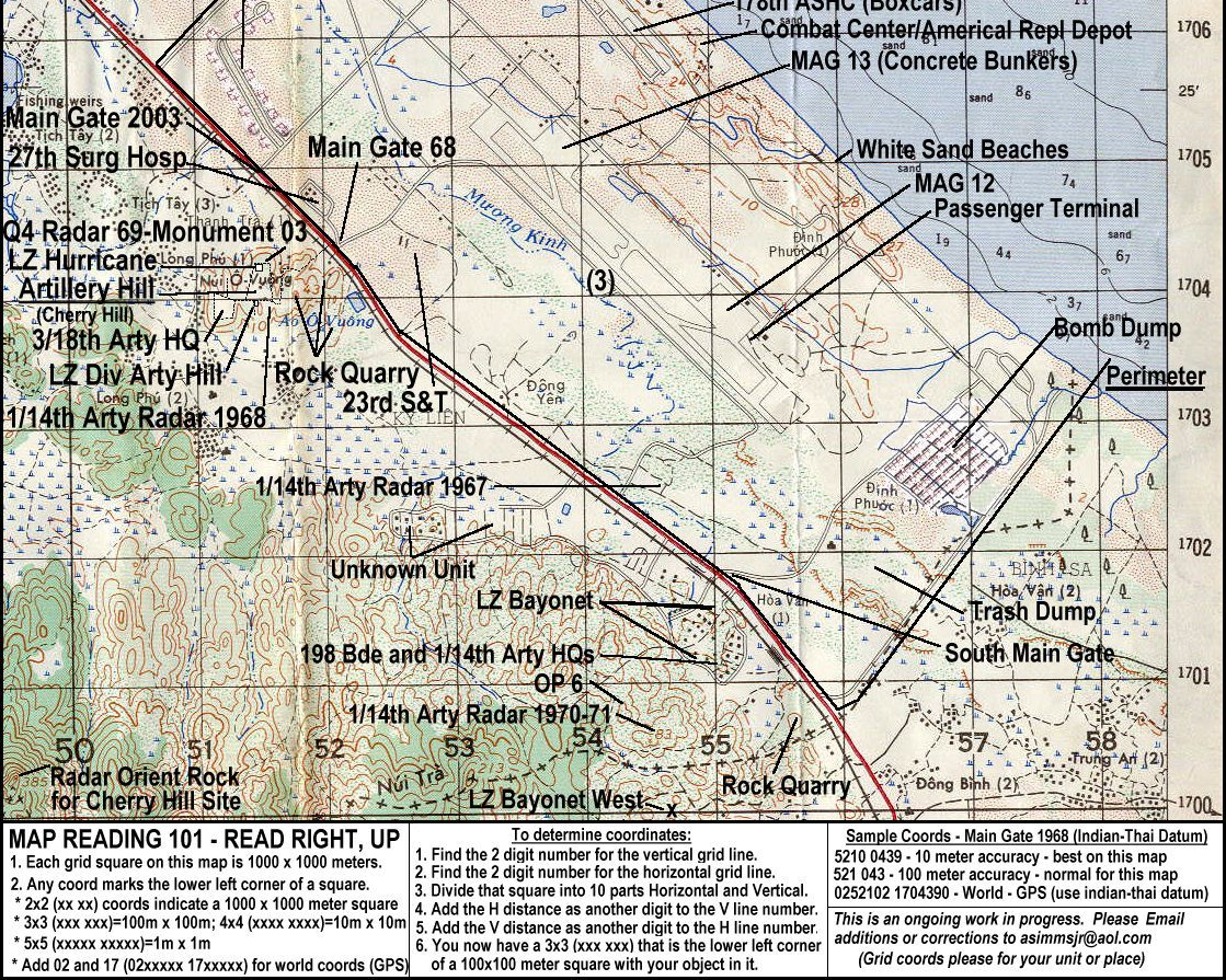 Aerial Photo Of Chu Lai Vietnam And Map Of Area Rd Infantry - Us army travel map