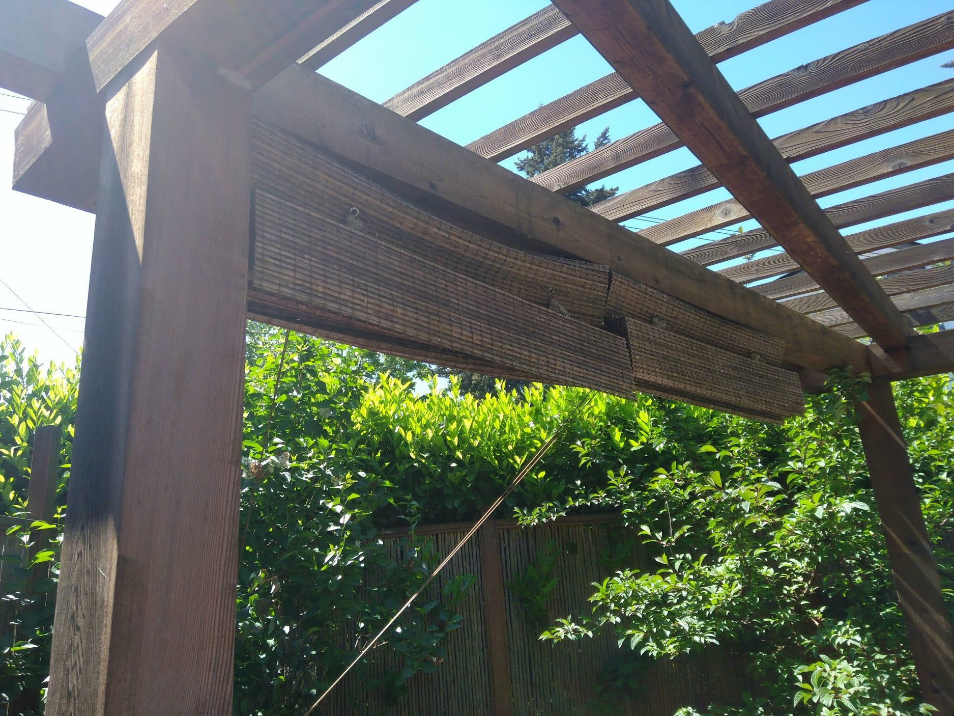 Add Shades To The Pergola