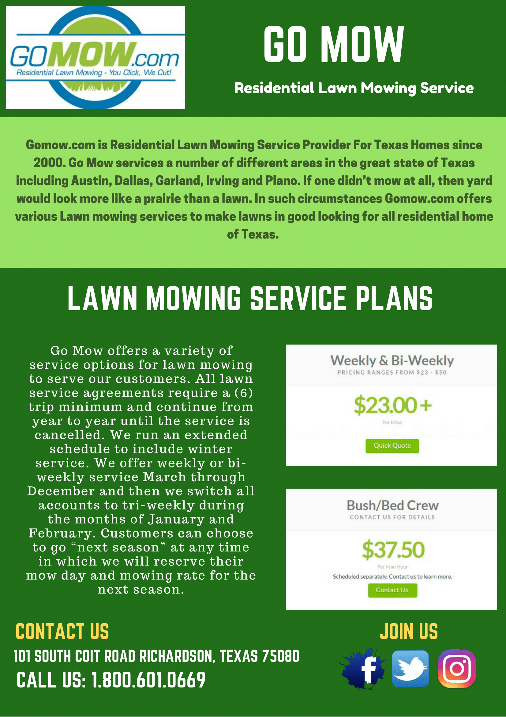 GomowCom Is Residential Lawn Mowing Service Provider For Texas