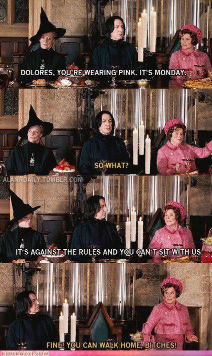 Dolores Umbridge Wearing Pink Harry Potter Funny Mean Girls Harry Potter Memes