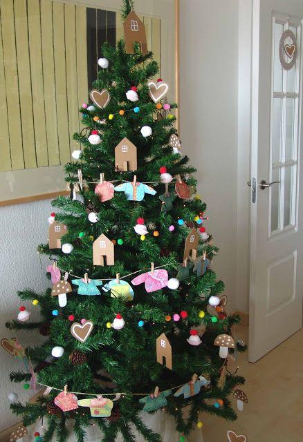 ARBOL CON ADORNOS HECHOS A MANO cosas para navidad Pinterest - cosas de navidad