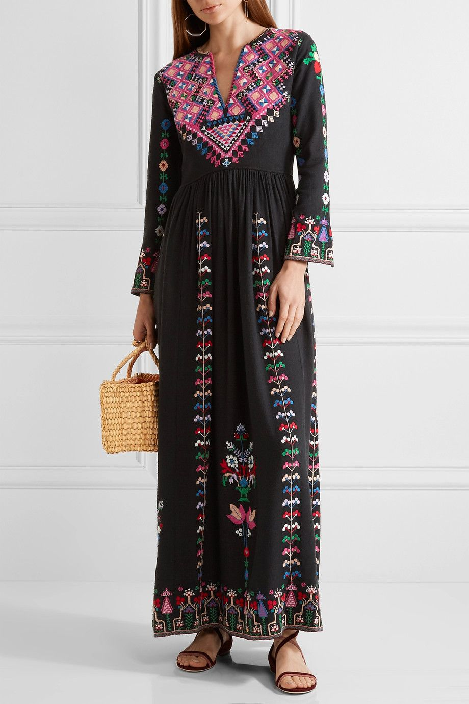 Big Discount Online Outlet Finishline Irina Embroidered Silk-canvas Maxi Dress - Black Ulla Johnson Pay With Paypal Cheap Online KdGINUo1