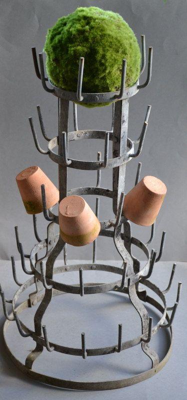 old vintage bottle holder / hedgehog French industrial decor/bottle drying rack/séchoir à bouteille/ #frenchindustrial