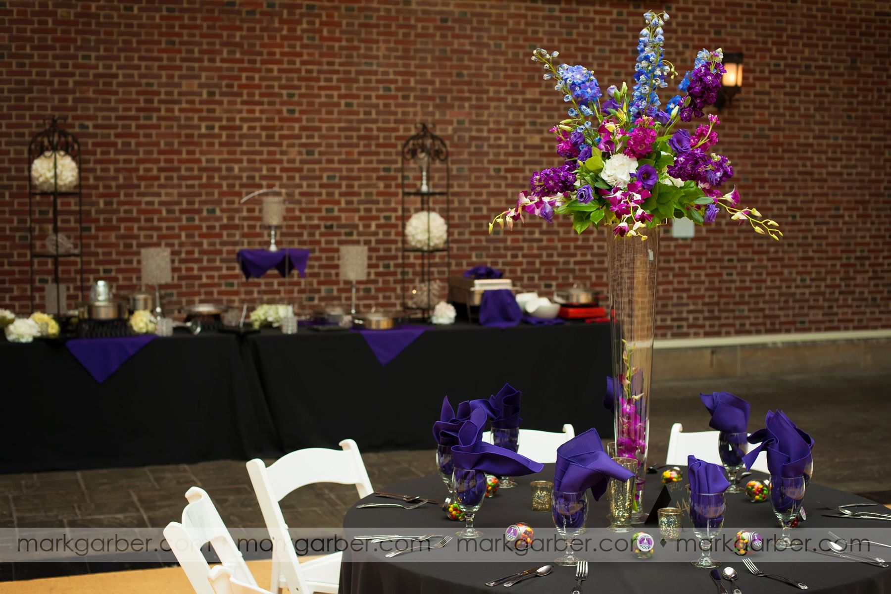 Dayton Art Institute Dayton Purple Black Weddings Events Buffet Primetimepr Markgarberphotography Party Rentals Wedding Rentals Dayton
