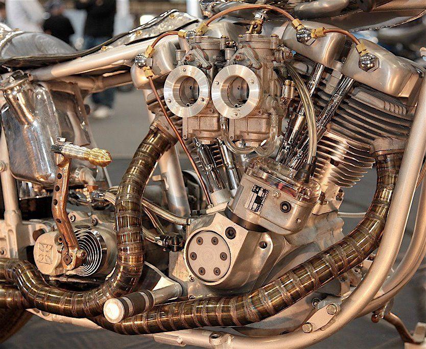 Exhaust Steampunk Motorcycle Harley Davidson Bikes Bike