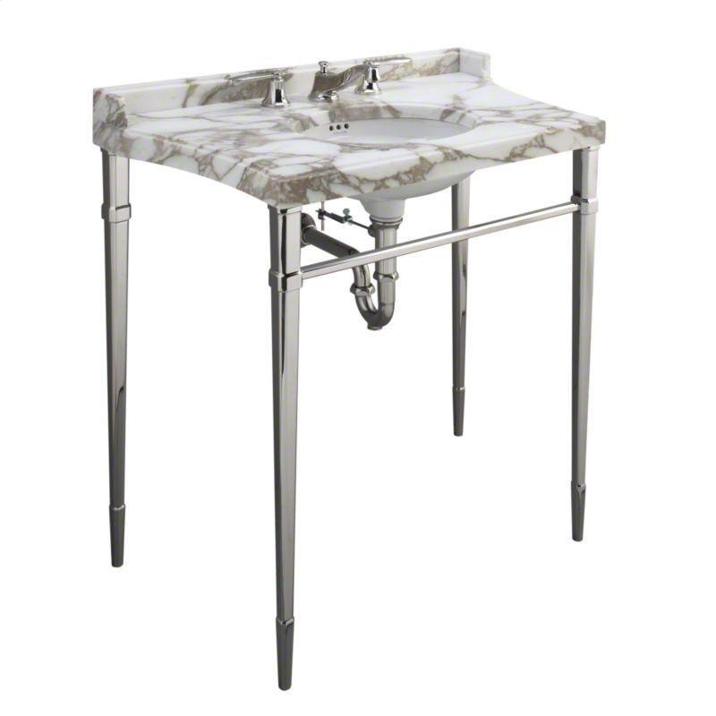 elegant bathroom vanities p7303900ad in nickel silver by kallista in chicago il nickel