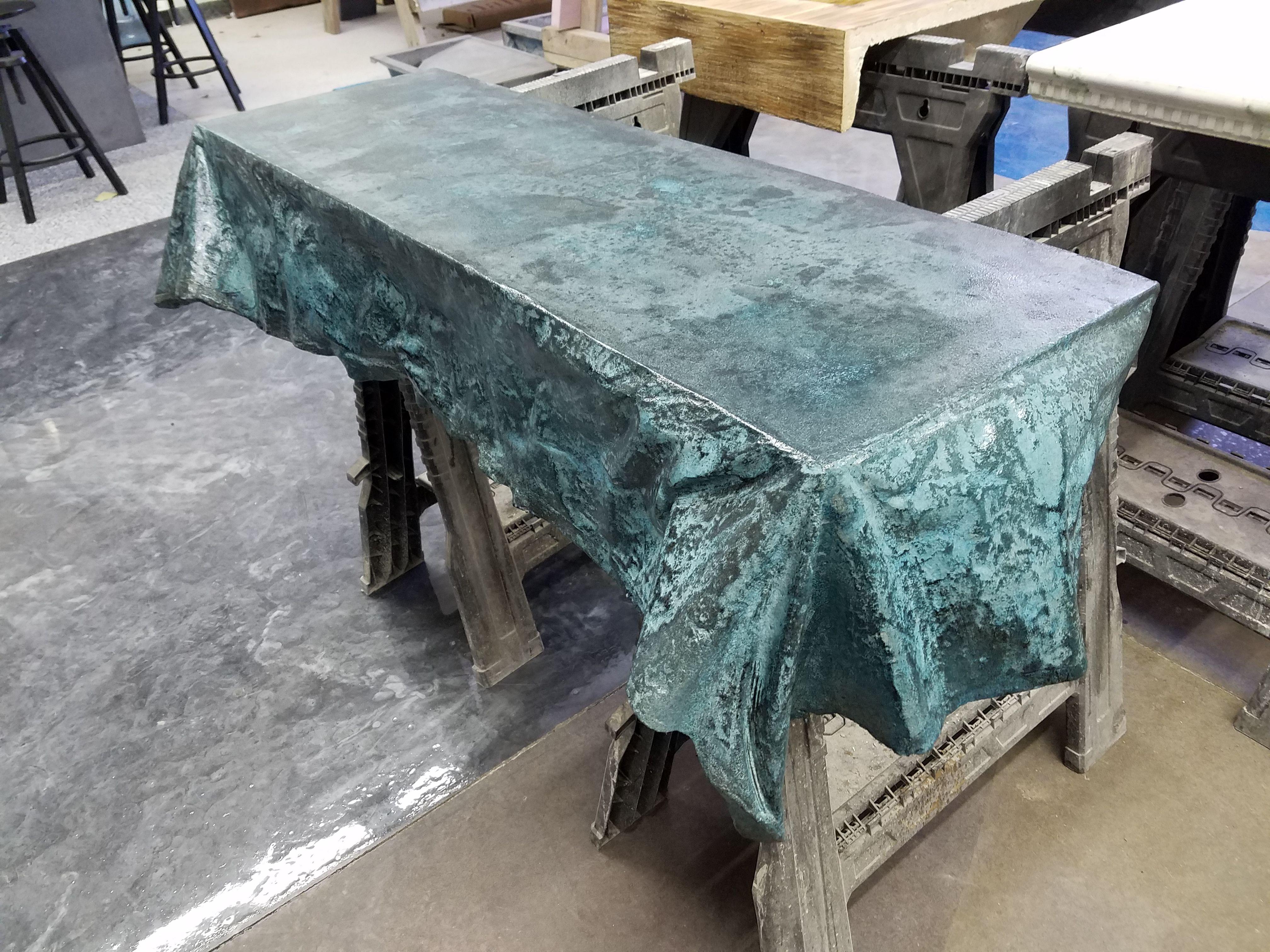 custom curtain formed concrete table unique concrete projects