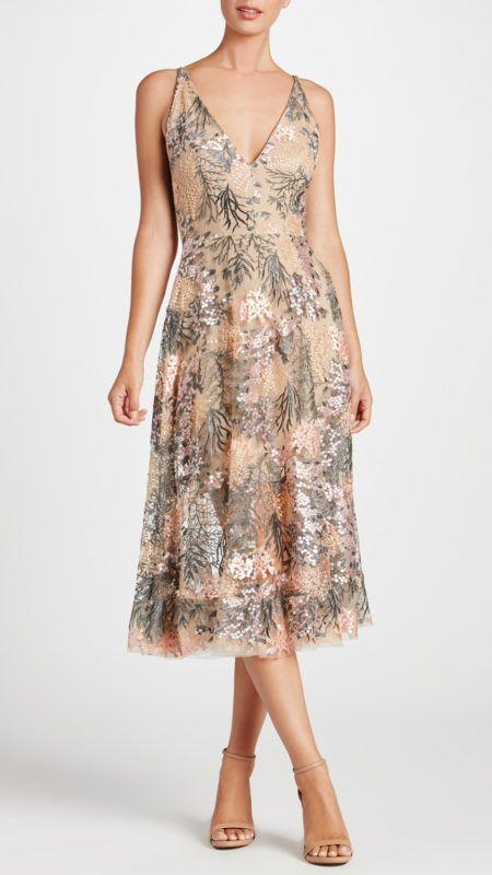 Dress The Population Audrey Floral Lace Midi Dress A