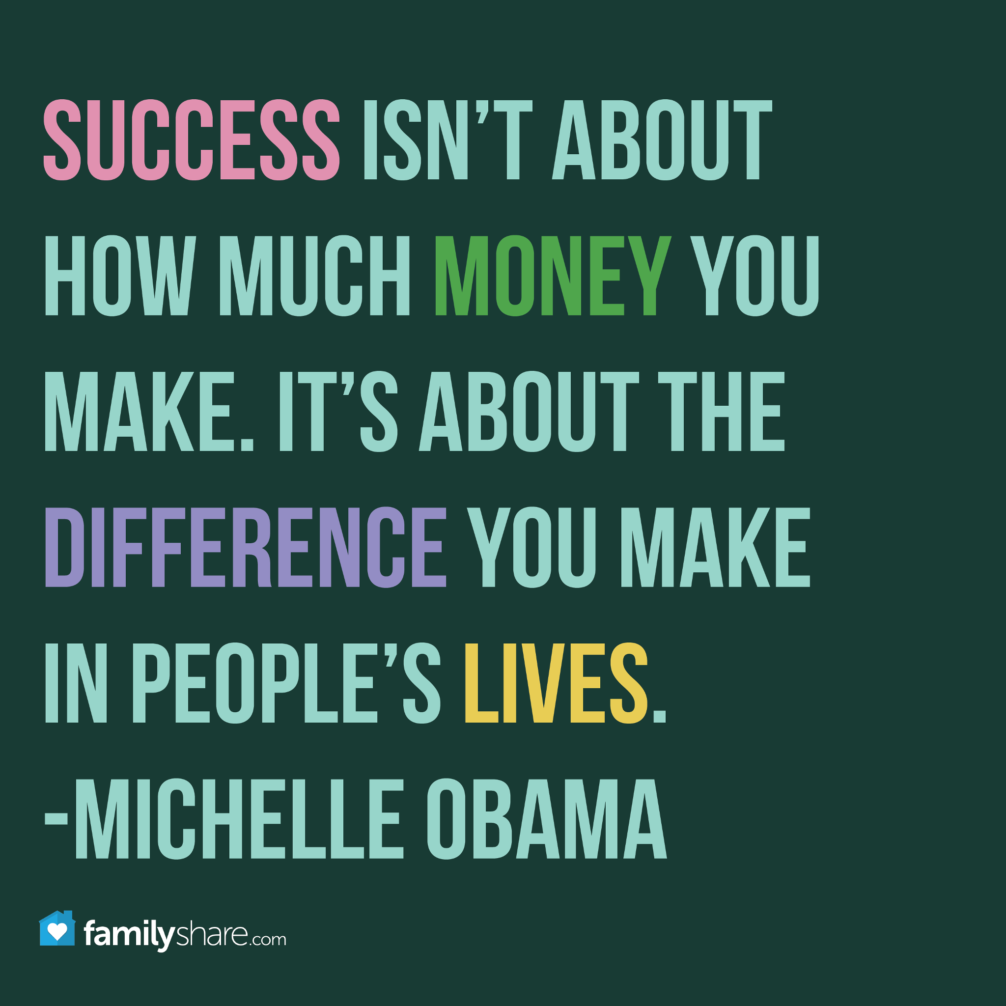 Great Quotes About Success Success Isn't About How Much Money You Makeit's About The