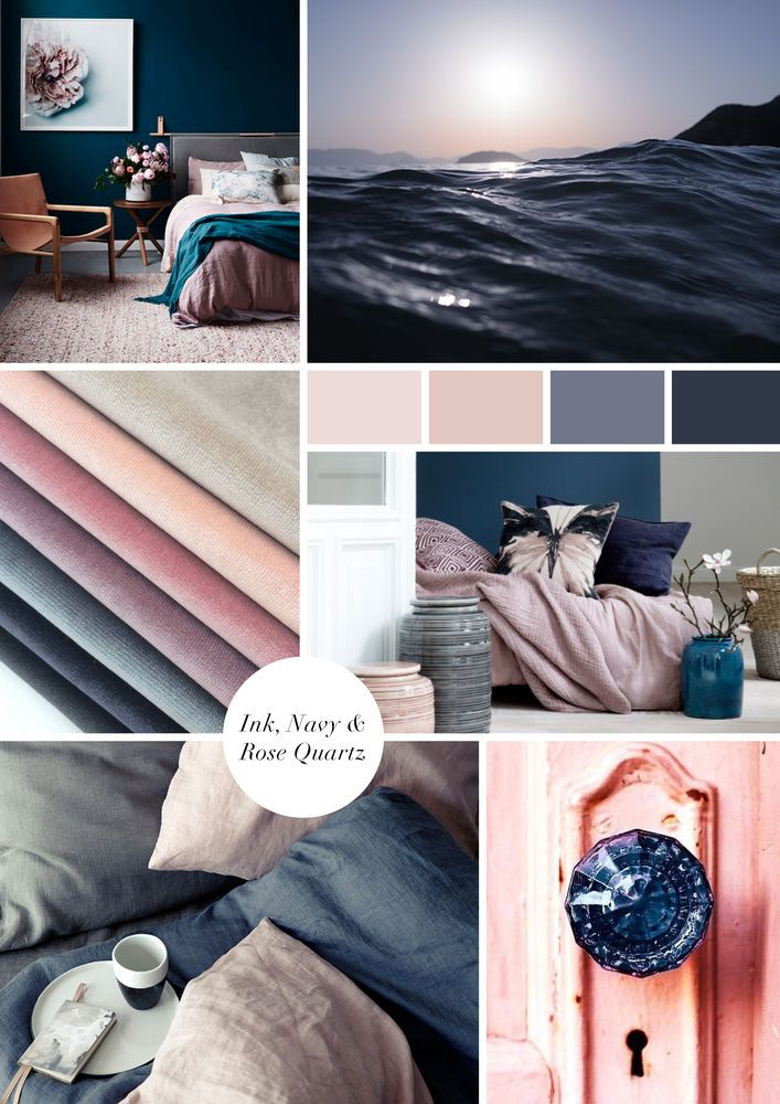 Navy Blush Master Bedroom Colour Inspiration Board Master Bedroom Colors Bedroom Color Schemes Master Bedroom Color Schemes