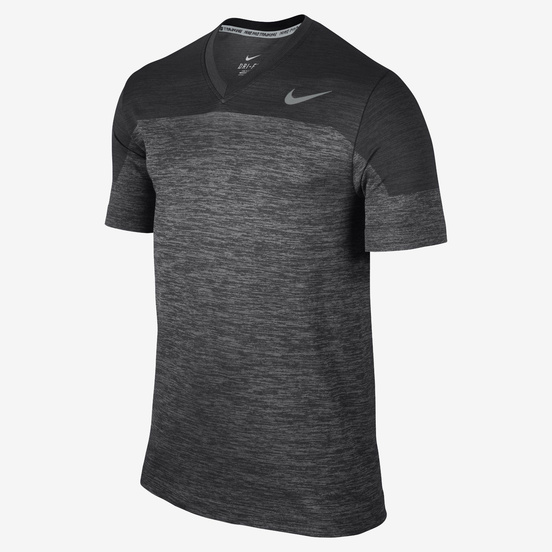 nike dri fit knit v neck men 39 s training shirt training. Black Bedroom Furniture Sets. Home Design Ideas