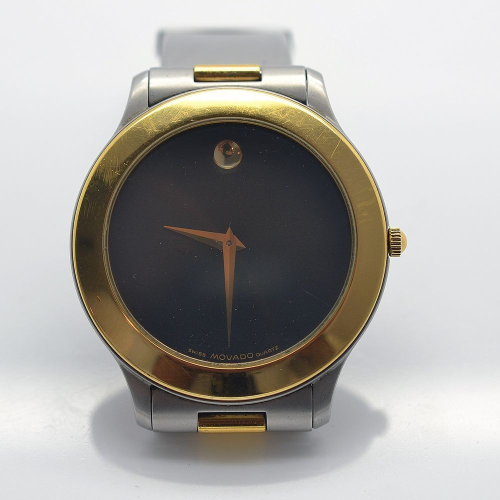 Movado 81C28622 Black Dial Two Tone Stainless Steel 18k Gold