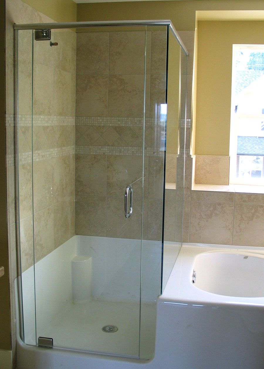 Cool and Better Look With Corner Shower Doors Glass: Outstanding ...