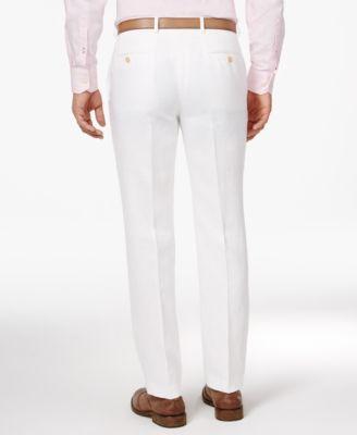 a5363da37b Lauren Ralph Lauren Men s Classic-Fit Solid Linen Dress Pants -  NantucketRed 30x32