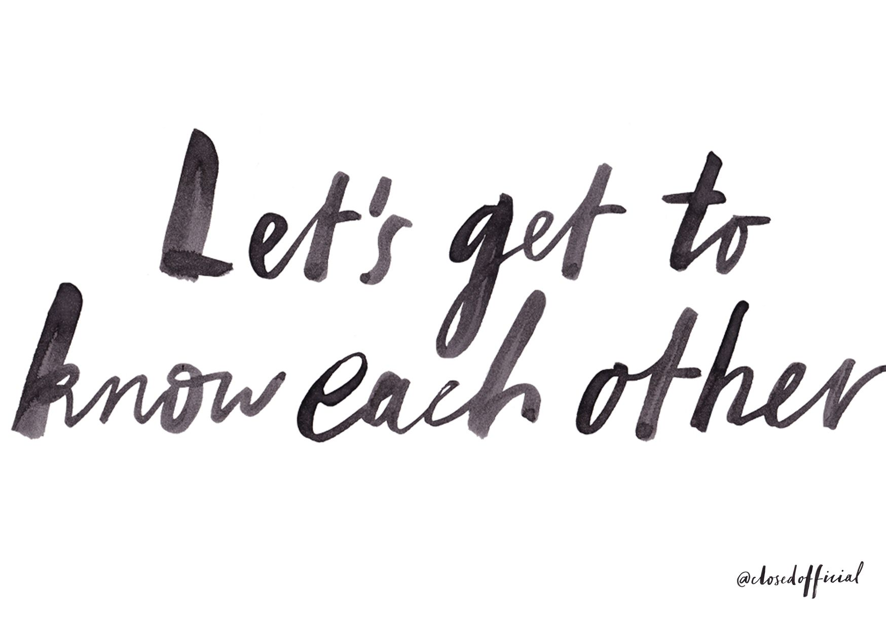 Lets Get To Know Each Other By Bianca Cash Bianca Cash Let It