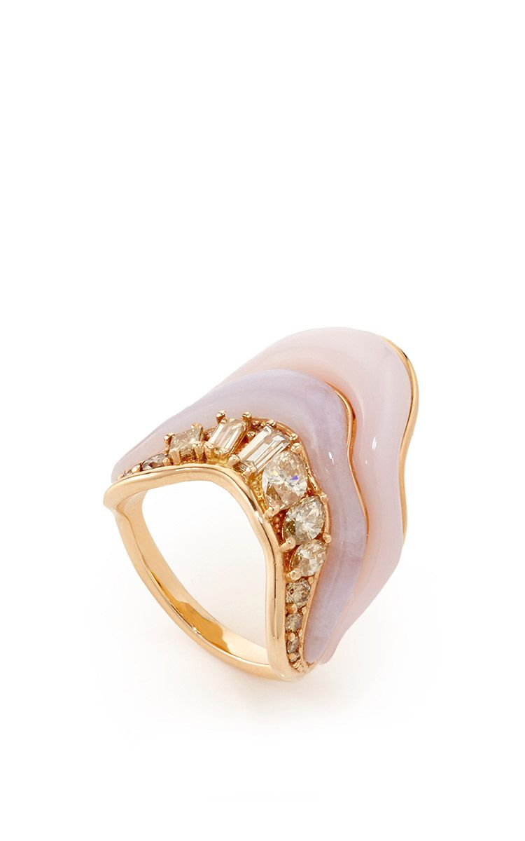 tream Melting Ring in Brown Diamonds by Fernando Jorge Resort 2016 - Preorder now on Moda Operandi