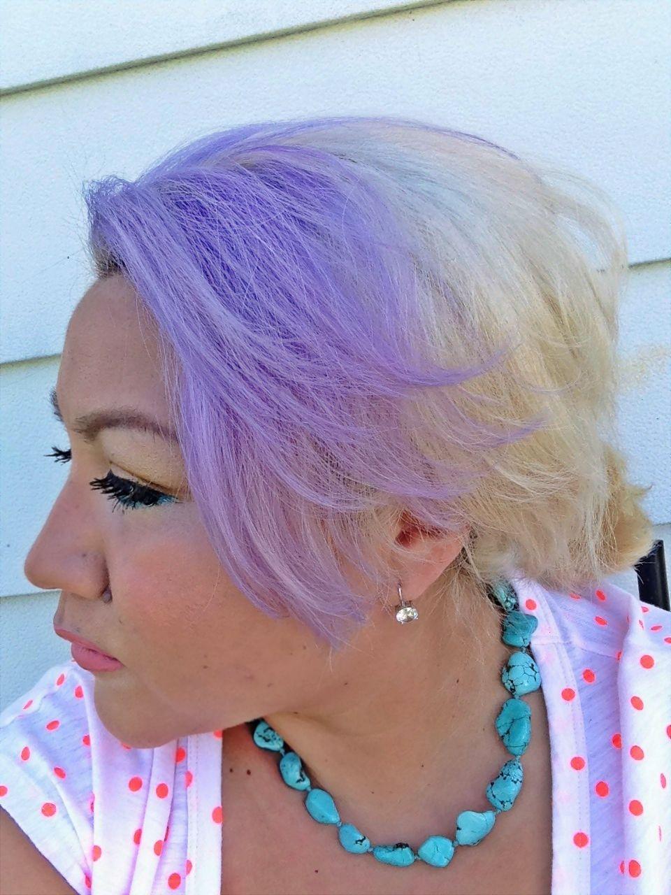 Purple Hair Lavender Hair Using Sallys Ion Color Brilliance