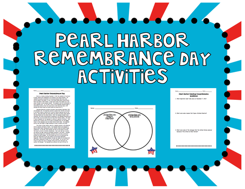 Pearl Harbor Remembrance Day Activities (December 7
