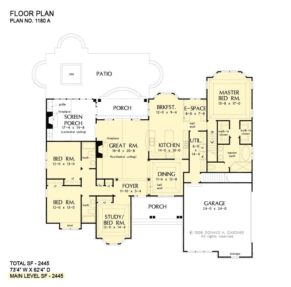 27 Awesome 3 Bedroom House Plans One Story In 2020 House Plans One Story Bedroom House Plans House Plans
