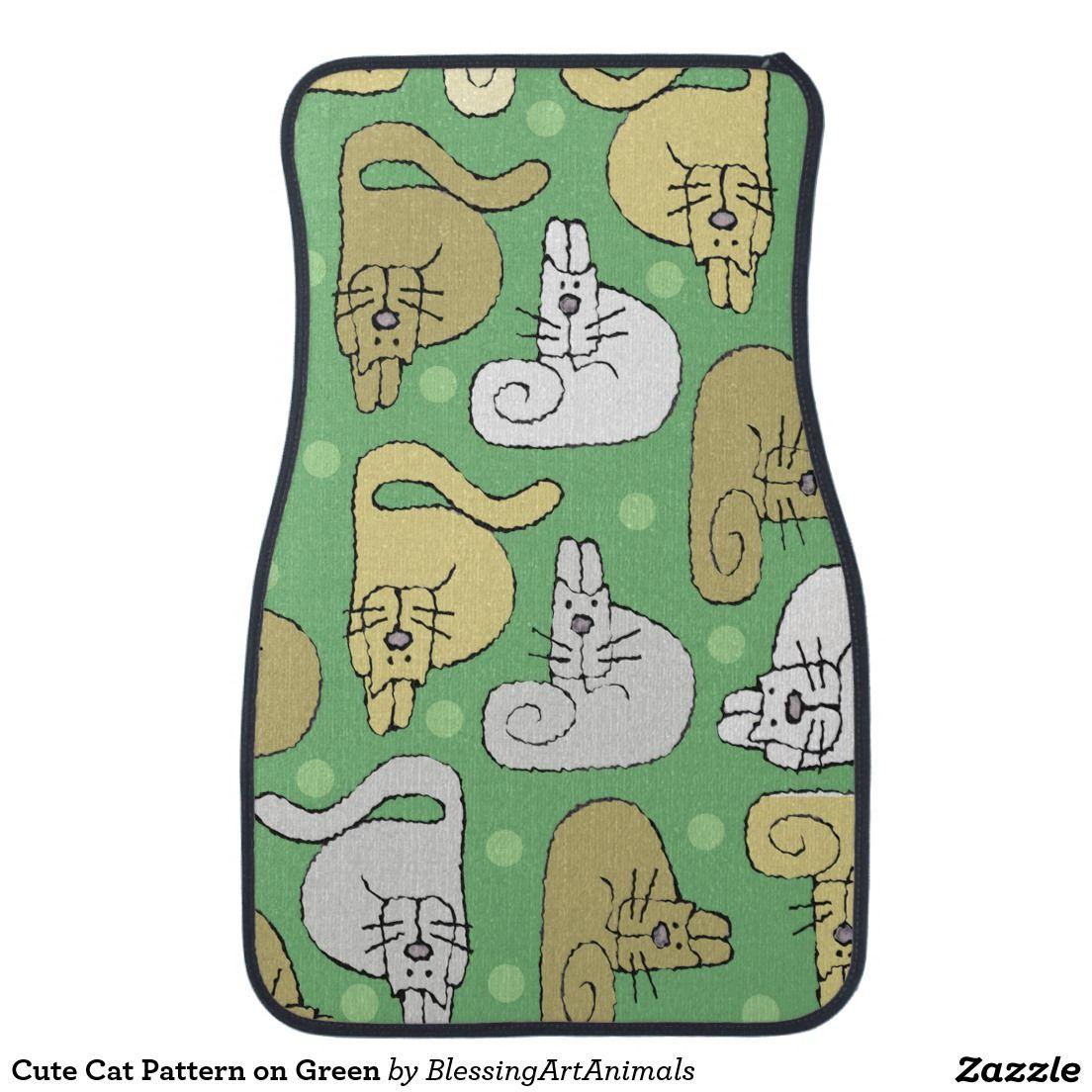 green car floor mats. Delighful Car Cute Cat Pattern On Green Car Floor Mat To Mats A