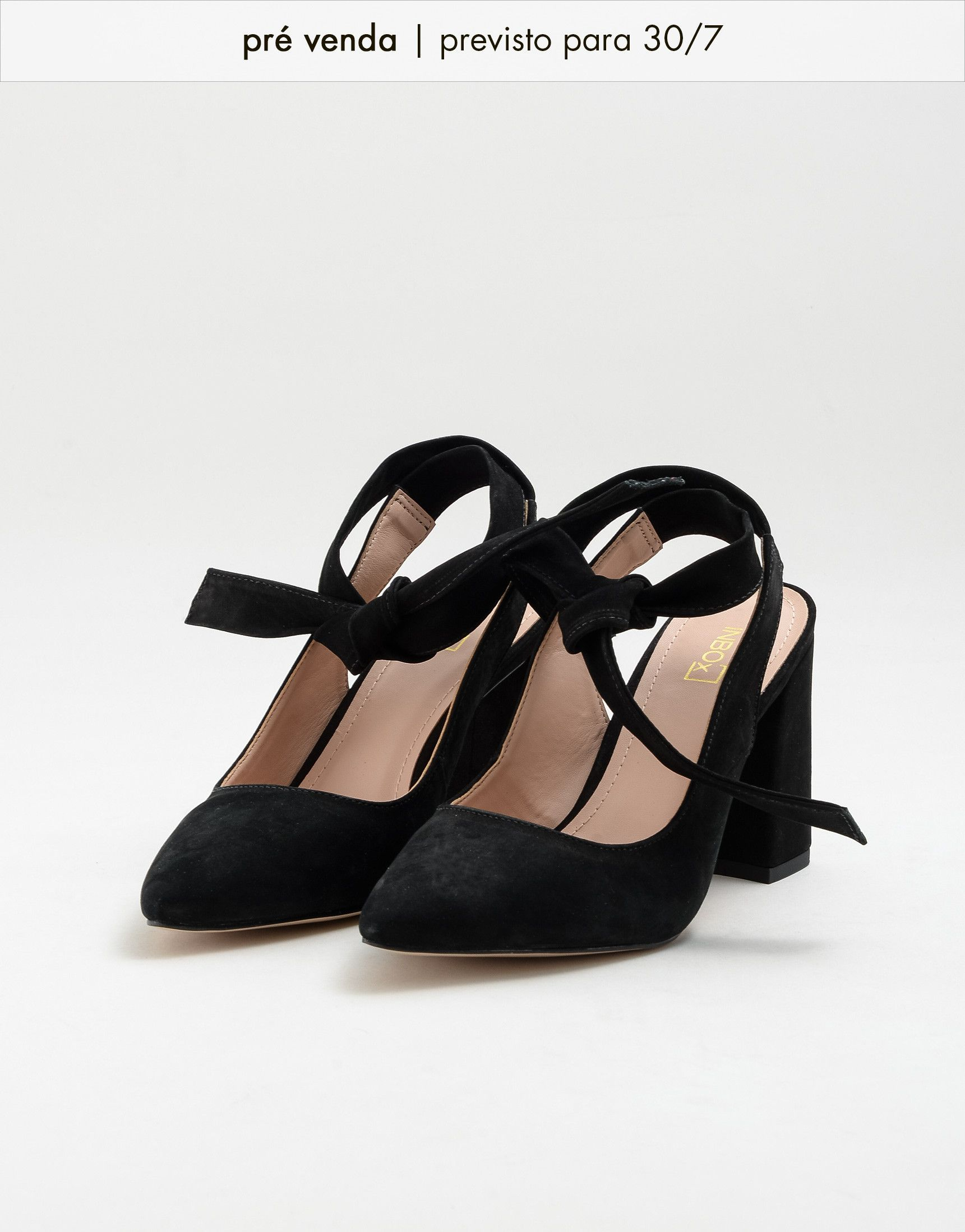 778afb072 PREVIEW  Scarpin Lace Up Nobuck Preto