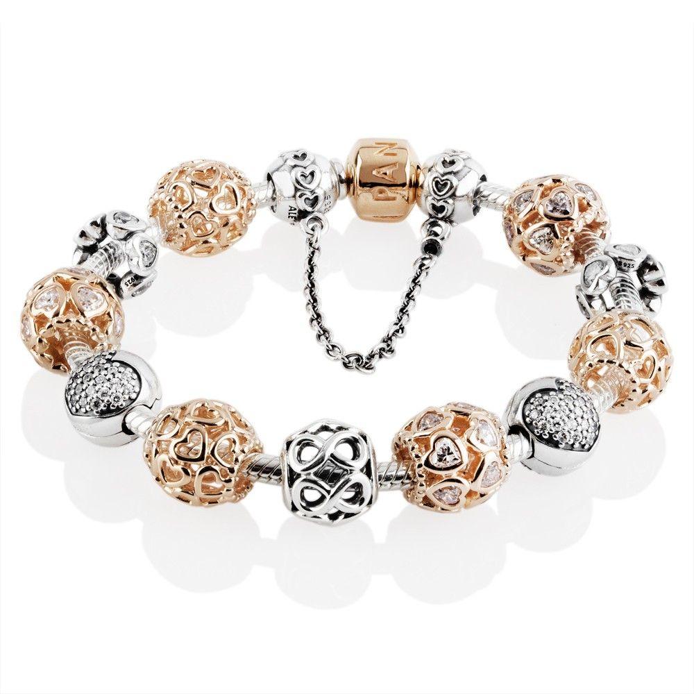 a362a1892 Pandora Rose Sweetheart Complete Bracelet CB625 | PANDORA Rose ...
