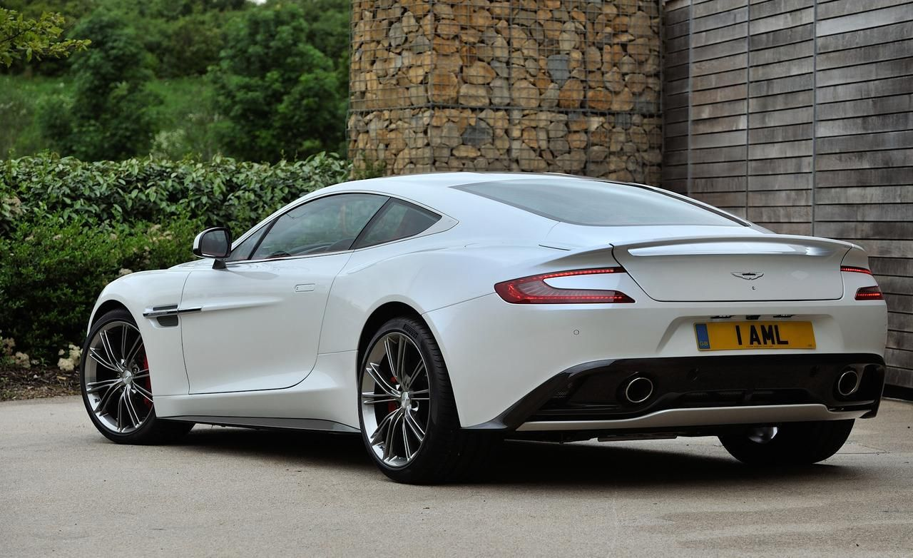 2013 Aston Martin DB9 White Rear Widescreen Wallpaper