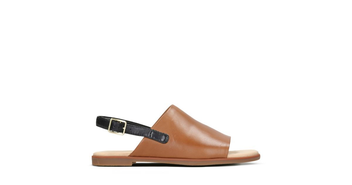 316344bc9 Bay Jasmine Tan Leather - Womens Flat Sandals - Clarks® Shoes Official Site