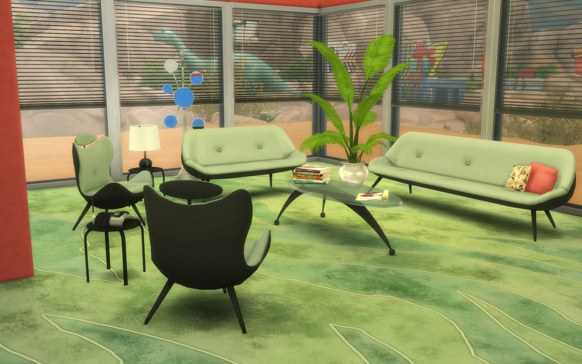 Ts2 To Ts4 60s Living Room Set Sims 4 Updates Sims