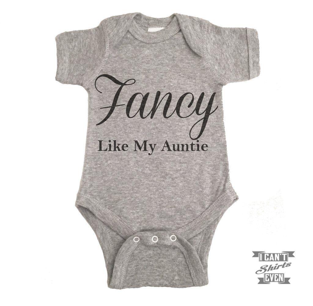 Fancy Like My Auntie Onesie Baby Bear Onesie Christmas Onesie Baby Onesies