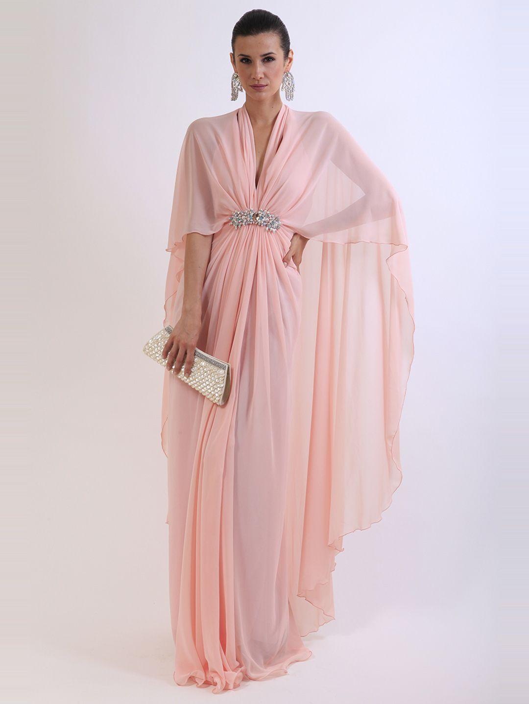 فستان من الشيفون تمتلكين الأناقة والتألق به. من تصميم جوليا دوماني ...