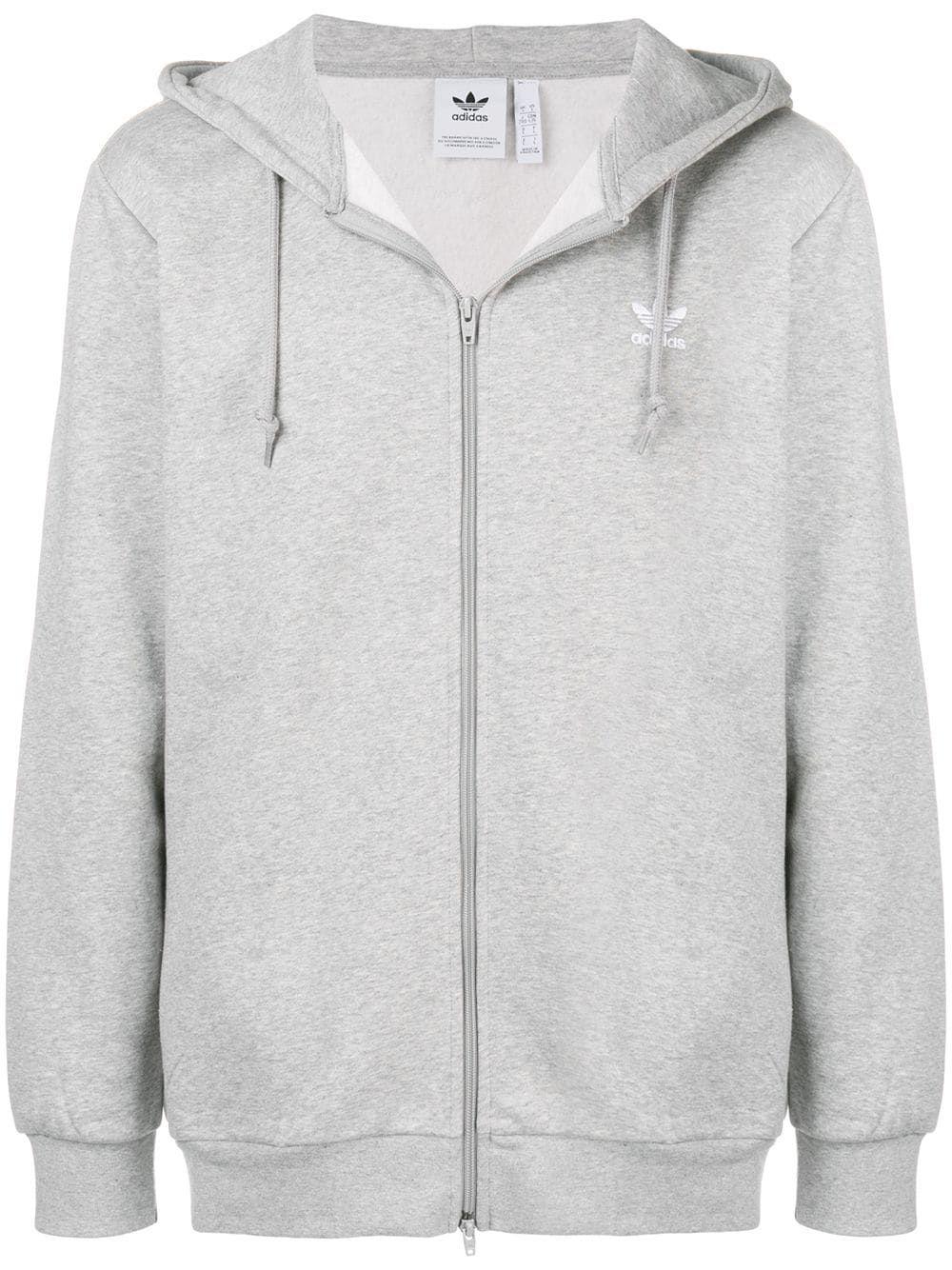 Adidas Oversized Zip Front Hoodie Farfetch Hoodies Hoodies Shop Grey Hoodie [ 1334 x 1000 Pixel ]