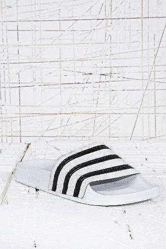 386753c8ed2 adidas Originals Adilette Pool Sliders in White